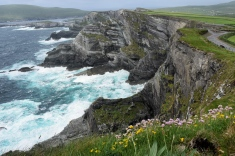 The Kerry Cliffs in Portmagee, midway along the Skellig Ring