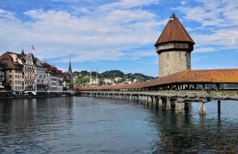 Kapellbrücke, Luzern, Switzerland
