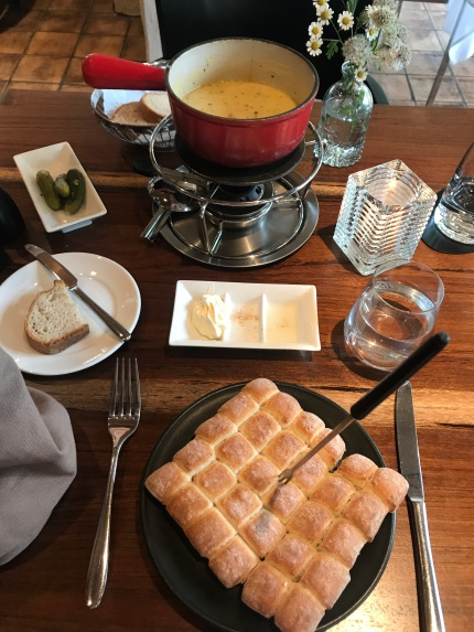 Swiss fondue in Interlaken