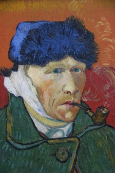 Van Gogh self-portrait with bandaged ear, Kunsthaus Museum, Zürich, Switzerland