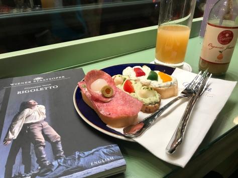 A post-opera snack at Gerstner