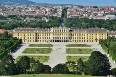 Schönbrunn Palace, summer home of the Habsburg=]=