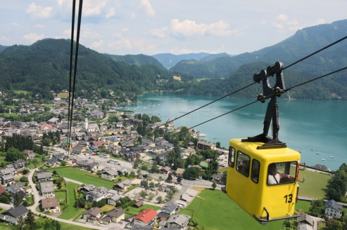 Zwölferhorn Mountain cable car, St. Gilgen, Austria
