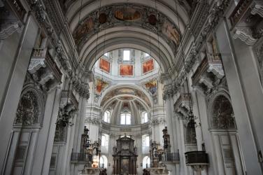 """Sound of Music"" tour, church in Mondsee"