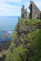 The ruins of medieval Dunluce Castle