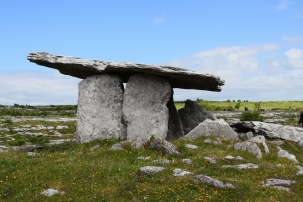 The Pulnabrone dolman, a portal tomb dating from 3200 B.C.