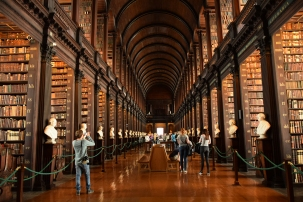 The Long Room at Trinity College, Dublin