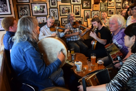 """Trad"" music at Tig Cóilí, Galway"