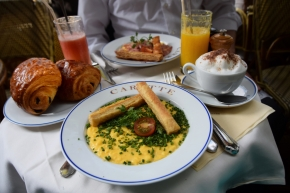 Breakfast at Carette, near the Eiffel Tower