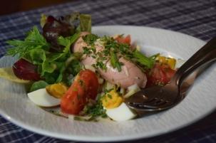Alsatian salad in Strasbourg
